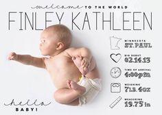 Anuncio de bebé de estilo infografía diseño personalizado