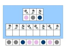 Board and tiles for the 3 mice visual perception game. By Autismespektrum
