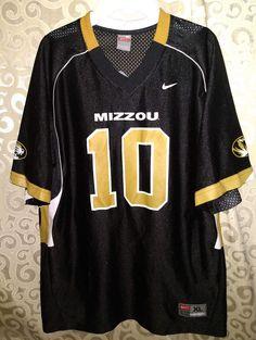 8c773171fb89 Nike Team Mizzou University Of Missouri Tigers Black Gold Football Jersey  10