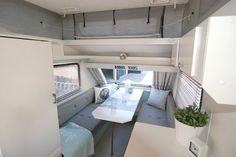 Grey & Blue & White Vintage updated Caravan