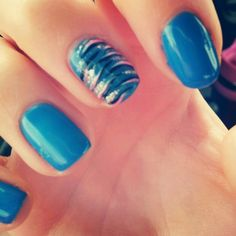 My Shellac nails with zebra design