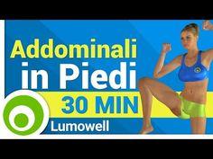 Pancia piatta - Esercizi Addominali in Piedi - 15 Minuti - YouTube