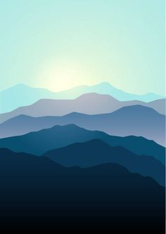 Graphic illustration of mountains landscape in beautiful colors,. Easy Canvas Art, Small Canvas Art, Easy Canvas Painting, Diy Painting, Cherry Blossom Art, Ganesha Painting, Minimalist Wallpaper, Nature Illustration, Landscape Wallpaper