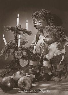 Mecki Karte / Postcard 104 Herzliche Weihnachtsgrüsse! (Merry Christmas!)
