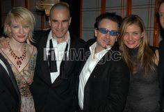 Cate Blanchett, Daniel Day Lewis, Bono and Cameron Diaz (Photo by Jeff Kravitz/FilmMagic) / 19 January 2003 #u2newsactualite #u2newsactualitepinterest #bono #theedge #larrymullen #adamclayton #u2 #music #rock #cateblanchett #beverlyhills #usa