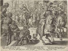 Romulus en Hersilia op een zegekar, Pieter Jalhea Furnius, Jan van der Straet, 1573