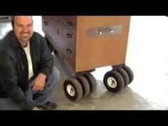 "This is how to make those casters for that awesome all terrain rolling toolbox!!!  DIY- How To Make Triple Threat Casters - Pneumatic 10"" wheel- Step by St..."