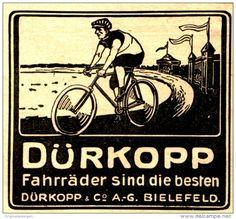 Original-Werbung/Anzeige 1912 - DÜRKOPP FAHRRÄDER - ca. 75 x 70 mm