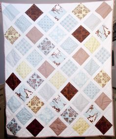 baby quilt with layer cakes