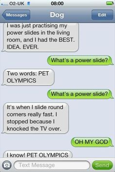 Funny text between you and your dog.