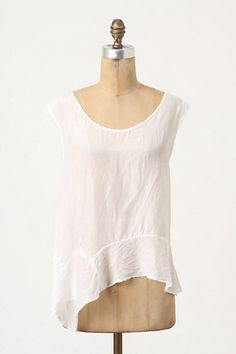 Peplum Askew Tank #anthropologie  in search of the perfect white tee. will this be the one??