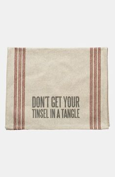Primitives by Kathy 'Tinsel in a Tangle' Tea Towel