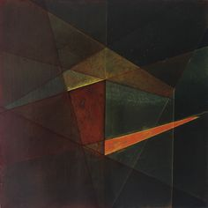 """Emmy Mikelson, Threshold Composition no.3. Gouache, oil and ink on panel. 14"""" x 14"""". 2013"""