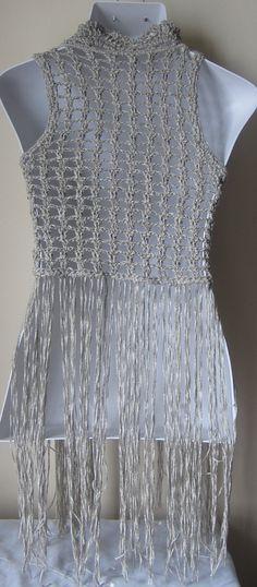 Crochet vest FESTIVAL VEST Fringe vest by Elegantcrochets on Etsy