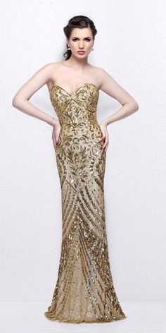 Pretty Sweetheart Sequin Evening Dress. Colors: Gold, Midnight. Size: 00-12