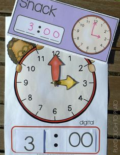 Free printable clocks and telling time cards. Awesome math center or telling time game.