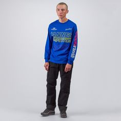 Cannes Long Sleeve T-Shirt in Royal Blue
