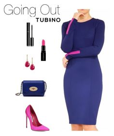 Going Out Selena Blue by tubino-skirts-dresses on Polyvore featuring mode, Brian Atwood, Mulberry, Vanhi, Chanel and Smashbox