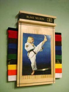 Karate Belt Display- this is pretty cool, even though it's not something I need right now.