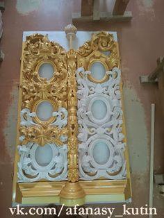 #Резьбаподереву #резьба #art #wood #woodcarving #carving #artcarving #золото #позолота #дизайн #интерьер #оформление #красота #gold #декор #искусство #gilding #design #beauty #interior #making #decor #эксклюзив #exclusive #church Colonial Art, Gold Furniture, Wall Molding, Wood Accents, Gold Leaf, Architecture Details, Candle Sconces, Filigree, Wall Lights