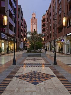 New Shopping Center and Apartments in the Wealthy Area of Gueliz in Marrakesh, Morocco
