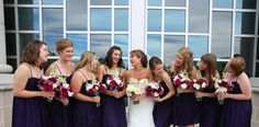 It's so awesome that purple is making a comeback! How gorgeous do these girls look next to the bride? Elizabeth Looney Photography! Click through to learn more!