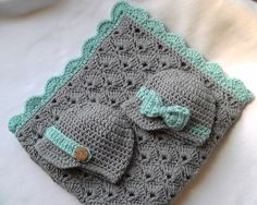 Crochet Baby Boy or Girl Car Seat/Stroller Size by LupineCrochet, $50.00
