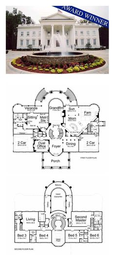 COOL House Plan ID: chp-15537 | Total Living Area: 8210 sq. ft., 6 bedrooms and 7 bathrooms. #houseplan #inlawsuite