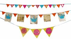 Oooo, using paper and tinfoil for bunting... what a great idea!