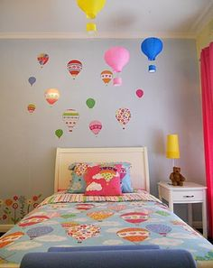 Seeing hot air balloons as a growing trend in children's rooms