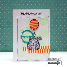 The Alley Way Stamps, TAWS, cards, clear stamps, Party Pooper, It's my Party, Tanja Kewel-Neef