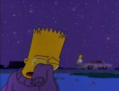 She was hurting his feelings. Simpson Wallpaper Iphone, Sad Wallpaper, Iphone Wallpaper, Simpsons Quotes, The Simpsons, Sad Pictures, Reaction Pictures, Simpson Wave, Cartoon Profile Pictures
