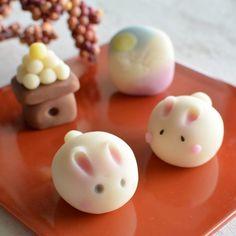 Japanese Wagashi, Japanese Sweets, Mid Autumn, Confectionery, Jelly, Deserts, Baking, Breakfast, Recipes