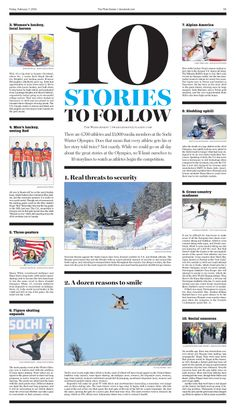 Cleveland Plain Dealer's Olympic preview  section inside page