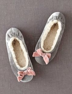 awesome Shop Spring 2015 Women's Clothing at Boden USA Fuzzy Slippers, Velvet Slippers, Bedroom Slippers, Womens Slippers, Ladies Slippers, Nightwear, Girls Shoes, Lounge Wear, Me Too Shoes