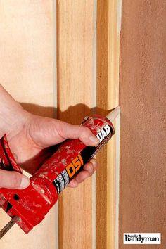 16 Incredible Caulking Tips - Home Improvement Home Improvement Projects, Home Projects, Projects To Try, Caulking Tips, Diy Bedroom Decor, Diy Home Decor, Brick Molding, Moulding, Door Casing