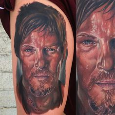 My Daryl Dixon Tattoo done Thursday afternoon. The Walking Dead. Norman Reedus.