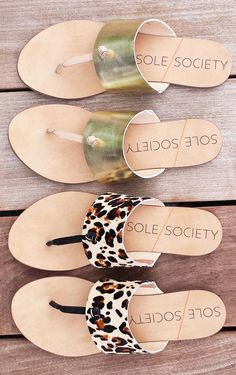 Leather T-strap sandals with hand-knotted detail
