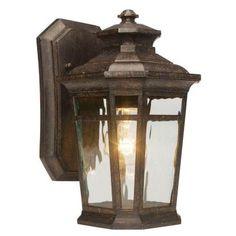 Home Decorators Collection Waterton 1-Light Dark Ridge Bronze Outdoor Wall Lantern-23122 - The Home Depot