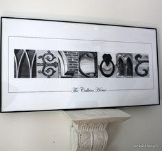 Alphabet Photography  10x20 Custom Welcome by AlphabetArtDesigns, $29.00