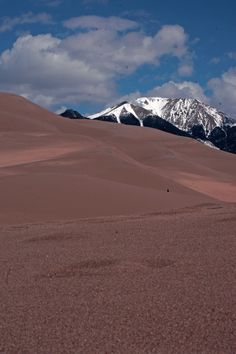 Across the Great Sand Dunes to Mount Herard,  Great Sand Dunes National Park and Preserve, Colorado