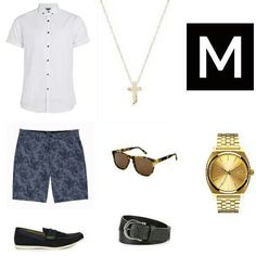 Shop the look http://www.menswr.com/outfit/148/ #beautiful #followme #fashion #class #men #accessories #mensclothing #clothing #style #menswr #quality #gentleman #menwithstyle #mens #mensfashion #luxury #mensstyle #shorts #sunglasses #necklace #loafers #shirt #watches #belt