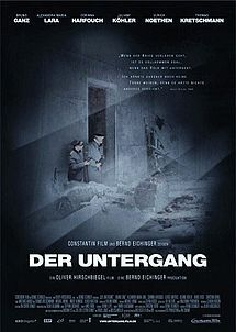 """""""Der Untergang"""" (Downfall) is a 2004 German war film directed by Oliver Hirschbiegel, depicting the final ten days of Adolf Hitler's reign over Nazi Germany in 1945."""