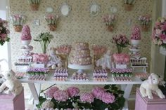 Pink themed shower