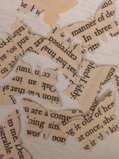 Book pages paper butterfly confetti-perfect for a literary themed wedding or celebration!  This table confetti is made from the pages of classical novels. Each butterfly is individually hand-punched and measures approximately 2cm by 1.5cm. These butterflies can be used to