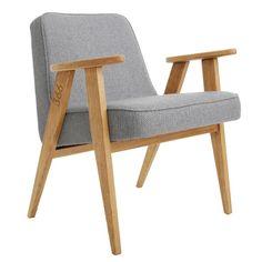 fauteuil 366 jozef chierowski 366 concept slavia vintage twwed gris