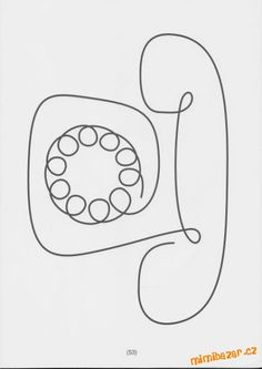 Old fashion telephone Single Line Drawing, Basic Drawing, Drawing For Kids, Art For Kids, Longarm Quilting, Free Motion Quilting, Machine Quilting, Doodle Drawings, Easy Drawings