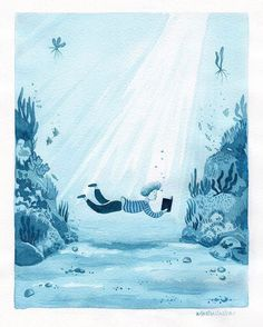 Reading under water XD
