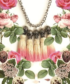 dip-dye head hunter necklace. on point for halloween!