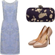 """dusty blue + beige2"" by noanyedges on Polyvore"